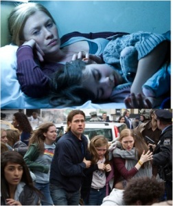 Film Still from World War Z From Google Images Pitt's Film Wife Take Care of the Children in World War Z