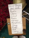 """This is a picture from the Santa setup at a mall near where I live. Notice the """"whiteness"""" generally associated with the names."""