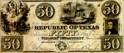 Republic_of_Texas_Fifty_Dollars